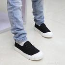 兒童帆布鞋男童一腳蹬懶人童鞋女童布鞋2020春秋新款兒童小白鞋潮『艾麗花園』