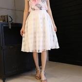 歐根紗裙-優雅修身顯瘦蓬蓬紗裙2色69l17【巴黎精品】