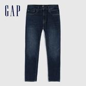 Gap男裝時尚水洗五口袋牛仔褲569639-藍黑色