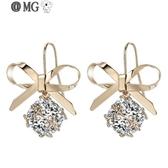 MG 耳環女-戴拉氣質耳墜女法式百搭大氣優雅耳環銀耳飾韓國版高級感耳夾