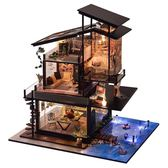 diy小屋巴倫西亞海岸創意手工制作房子模型別墅拼裝玩具生日禮物 igo  露露日記