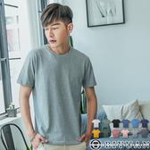 抗UV純棉 短袖T恤 【OBIYUAN】防曬認證 上衣 素面情侶款 台灣製 【EN88001】