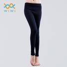 【WIWI】MIT溫灸刷毛九分發熱褲(湛海藍 女S-2XL)