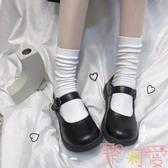 韓版日系可愛中筒襪子女純色堆堆長襪棉【聚可愛】
