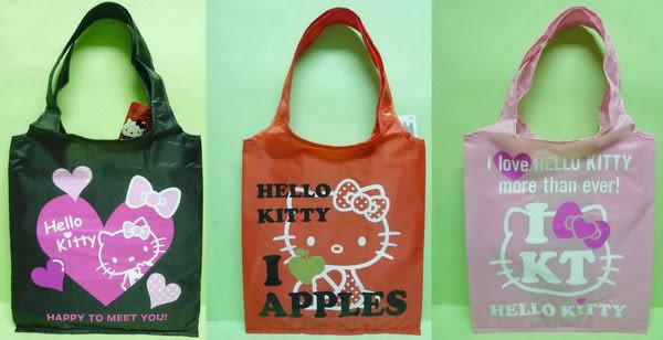 【震撼精品百貨】Hello Kitty 凱蒂貓~手提袋收納環保袋『黑/紅/粉』(共三款)