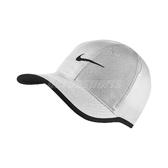 Nike 帽子 FeatherLight Cap Dri-FIT 白 黑勾 魔鬼氈調整 網球帽 棒球帽 男女款 【PUMP306】 679421-100