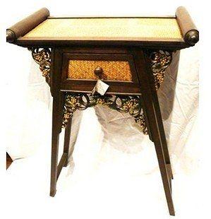 藤木雕花玄關桌