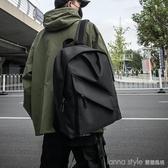 男士背包日系雙肩潮包女簡約休閒旅行包時尚書包男大學生 LannaS