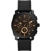 FOSSIL Machine 星際時空三環計時手錶-黑/42mm FS5586