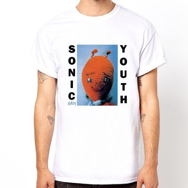 SONIC YOUTH-dirty短袖T恤-白色 音速青春樂團搖滾美國進口 ROCK
