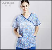 手術服女款醫生護士工作制服洗手服寵物醫院分體短袖滌棉印花LG-882223