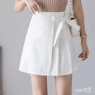 百褶半身裙女2020年夏季新款時尚短裙不規則高腰顯瘦包臀A字裙子 HX5962【Sweet家居】