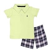 【北投之家】男寶寶套裝二件組 短袖POLO杉上衣+短褲 黃船勾 | Carter s卡特童裝 (嬰幼兒/baby)