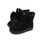 雪靴 靴子 戶外休閒鞋 黑色 童鞋 no108