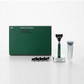 韓國bläk 經典刮鬍刀禮盒套組2.0版(迷霧綠)