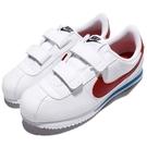 Nike 休閒鞋 Cortez Basic SL PSV 白 紅 藍 童鞋 中童鞋 OG 阿甘鞋 魔鬼氈 運動鞋【PUMP306】 904767-103