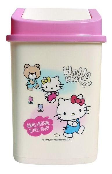 HELLO KITTY KT 垃圾桶 置物筒 方形垃圾桶 車用垃圾桶 粉色款 COCOS PX080