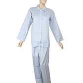 BURBERRY經典格紋休閒全套女家居服(水藍色)085110-1
