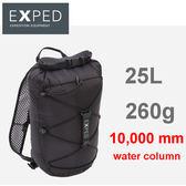 【速捷戶外】瑞士 EXPED Cloudburst 25L防水背包/防水包/攻頂小背包 (黑色) 16781 / 2018001