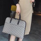 公文包女手提電腦包時尚韓版職業復古女士a4文件包大容量商務女包