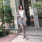 膝上靴女高跟長筒瘦腿彈力高筒單靴子春加絨  名購居家