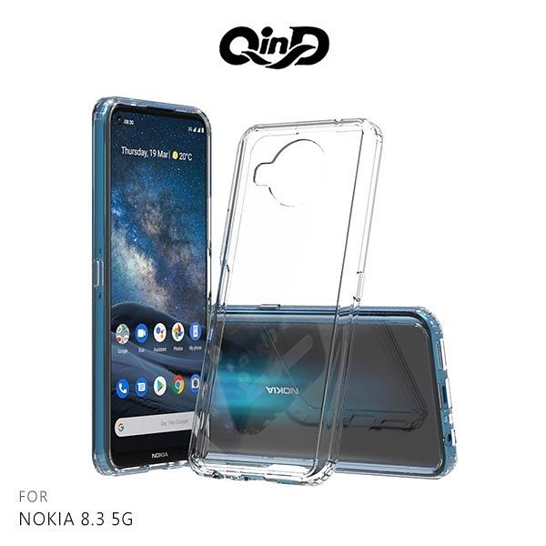 現貨 QinD NOKIA 8.3 5G 雙料保護套 軟邊硬殼 手機套 保護套 透明殼