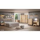 【森可家居】貝克6尺床組(全組) 8ZX324-3 加大雙人床 臥室 房間組 木紋質感 衣櫃