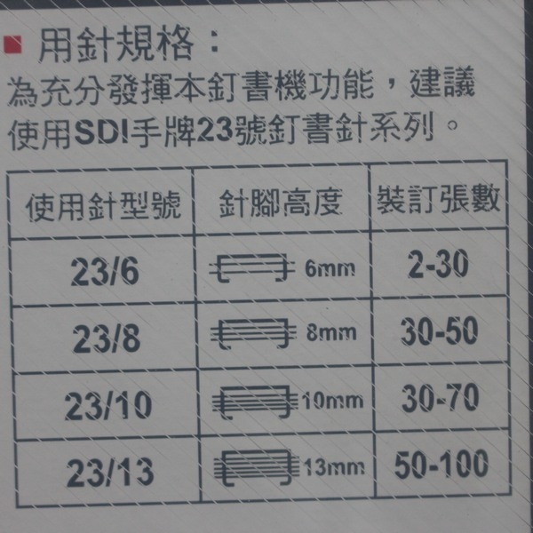 SDI手牌 1140P 重力型釘書機 多功能訂書機/一台入{定900}(可釘2~100張紙)