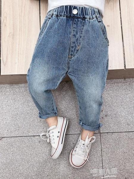 童裝男童牛仔褲潮兒童秋裝褲子休閒褲百搭小童寶寶春秋長褲 9號潮人館