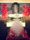 新北市花店開幕活動佈置/開幕剪綵/剪綵用品/9層香檳塔/香檳杯專人送達鋪設佈置4800元