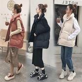 外套 2019冬季新款羽絨棉馬甲女短款韓版寬鬆面包背心加厚無袖坎肩外套