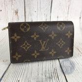 BRAND楓月 LOUIS VUITTON LV 路易威登 M61730 棕色 咖啡色 原花 二折 中夾 錢包 錢夾