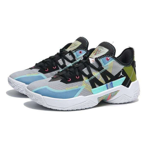 NIKE 籃球鞋JORDAN ONE TAKE II 灰藍黑 彩色渲染 避震 包覆 明星款 男 (布魯克林) CW2458-003