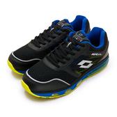 LIKA夢 LOTTO 專業全氣墊避震慢跑鞋 AERO elite系列 黑藍黃 0990  男