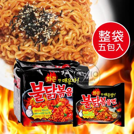韓國 辣雞麵 (五包入) 全球最辣泡麵 韓式重辣味 火辣雞肉炒麵 韓國泡麵