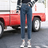 直筒褲 實拍寬松牛仔褲女新款女褲子直筒泫雅高腰蘿卜闊腿老爹褲