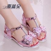 兒童涼鞋 2020新款韓版夏季時尚公主鞋中大童小女孩兒童高跟鞋軟底