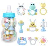 (交換禮物)手搖鈴嬰兒玩具益智芽膠手搖鈴3-6-12個月新生兒寶寶幼兒0-1歲