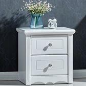 (百貨週年慶)臥室床頭櫃簡約現代邊櫃多功能儲物櫃白色烤漆韓式田園組裝收納櫃xw