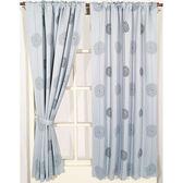 波爾卡遮光窗簾 寬290x高240cm 灰