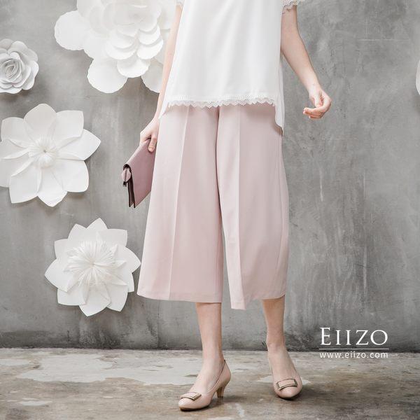 【EIIZO】舒適休閒百搭七分寬褲(粉)