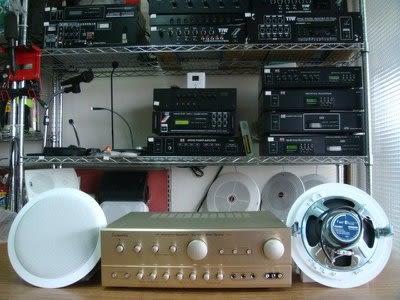 VITECH 廣播綜合擴主機 卡拉OK擴大機-80W*80W含高功率崁入式40w同軸喇叭-組合3