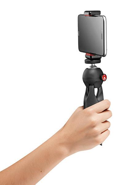 Manfrotto PIXI CLAMP SMART 萬用手機夾+迷你腳架 桌上型三腳架 手機夾 手機架 【公司貨】