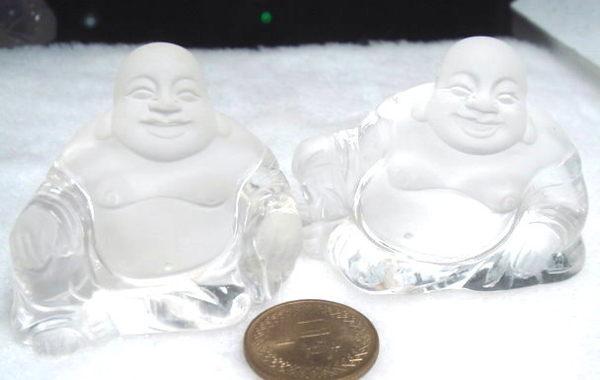 正巴西天然白水晶 精雕彌勒佛 又白又亮*乾淨度超高!送禮物佳品*免運費