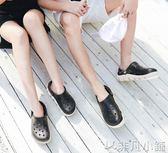 洞洞鞋 男士防滑洞洞鞋拖鞋沙灘鞋透氣女半包頭拖鞋情侶大碼涼鞋子 非凡小鋪
