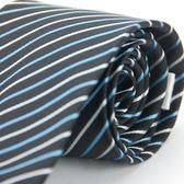 【Alpaca】黑底藍白斜紋領帶
