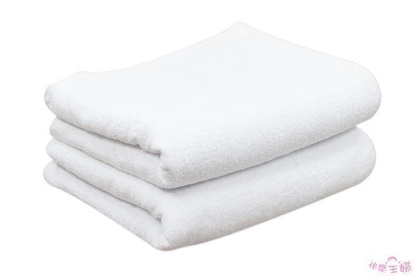 商用加寬素色毛巾被 / 白色 / 100%純棉 美容床鋪床巾 950g 120x200cm 台灣製造【快樂主婦】