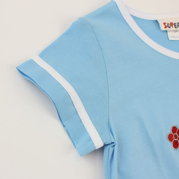 【愛的世界】純棉圓領海盜船短袖上衣-藍/3歲/6歲-台灣製- ★春夏上著 夏日推薦