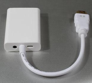 【世明國際】HDMI 轉VGA轉換器 HDMI公轉VGA母 帶晶片 HDMI轉VGA 帶音頻/音源輸出孔