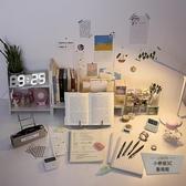 小清新桌面書立書架置物架閱讀架書架書桌裝飾【小檸檬3C】
